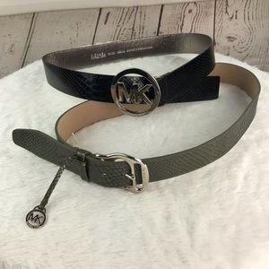 Michael Kors bundle of 2 leather belts